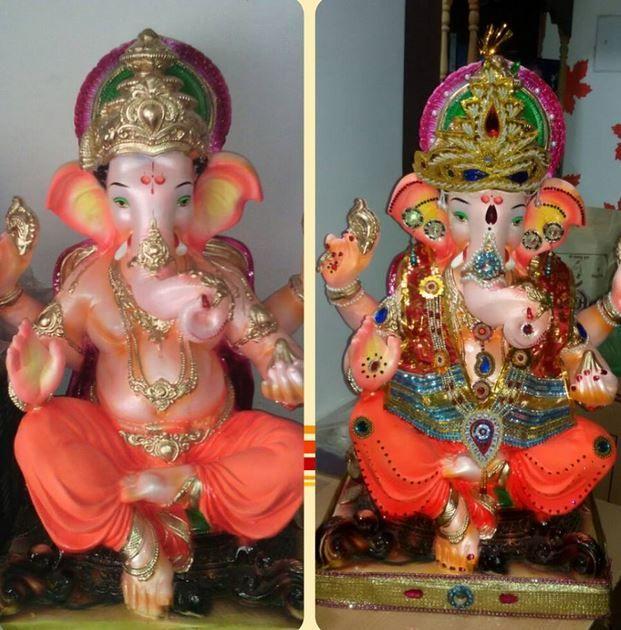 57 best decoration of pooja ki thali images on pinterest for Aarti thali decoration ideas for ganpati
