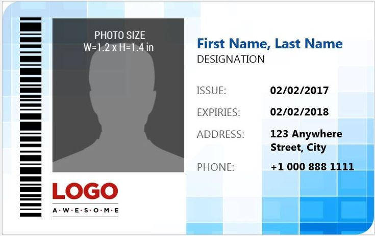 ID Badge Template for MS Word
