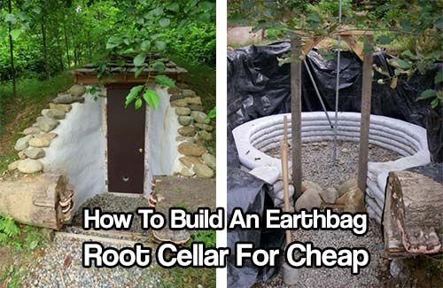 to build an earthbag root cellar for cheap root cellar root cellar