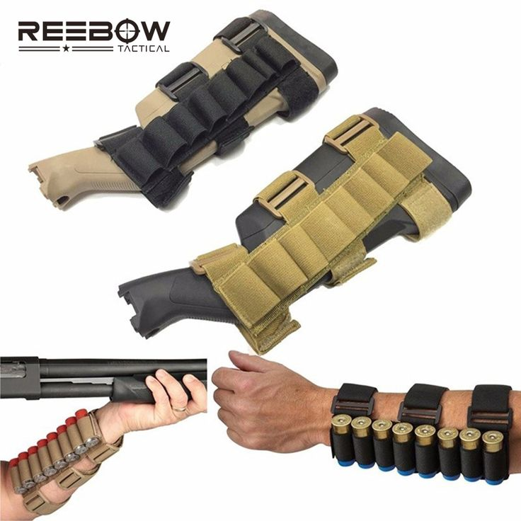 REEBOW TACTICAL Hunting 8 Rounds Ammo Shotgun Shell Holder Carrier Shooting Portable Forearm Mag Pouch for Hunting Airsoft