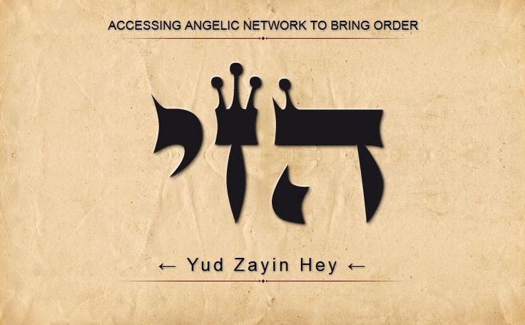 9 HEZI: HEY ZAYIN YUD: Acceso a la red angelical para poner orden. Escanear de derecha a izquierda
