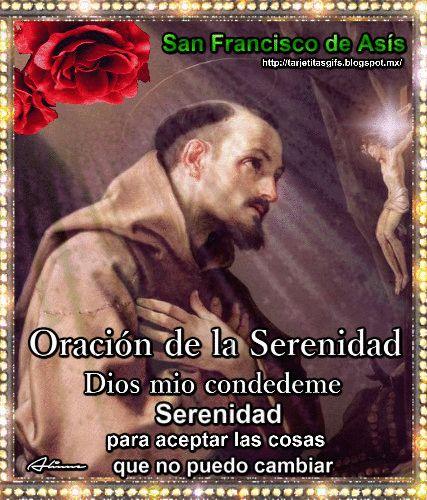 Tarjetitas en Gifs: Oración de la Serenidad (San Francisco de Asís)