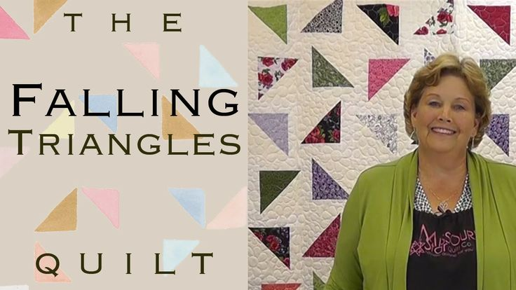 The Falling Triangles Quilt: Easy Quilting with Layer Cakes! 1 layer cake; 2 jelly rolls makes 90x108...12 blocks across x 14 blocks down