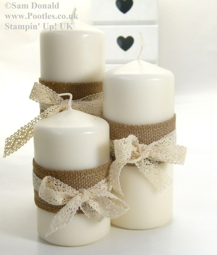 POOTLES Stampin Up UK Advent Countdown 23 Ribbon Candle Wraps 2