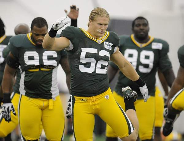 Photo of Clay Matthews III  & his friend Bays Quarterback