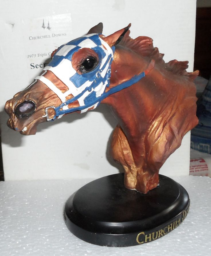 Secretariat Statue Head Bust from Churchill Downs 1973 Kentucky Derby Winner