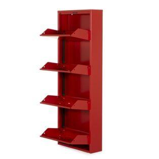 Meuble à chaussures en métal rouge Lofter - Tout pour le rangement - Alinea