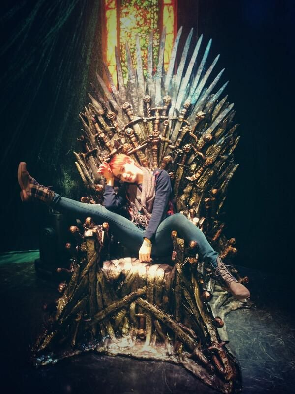 Just Felicia Day chillin' on the Iron Throne. @Felicia Day