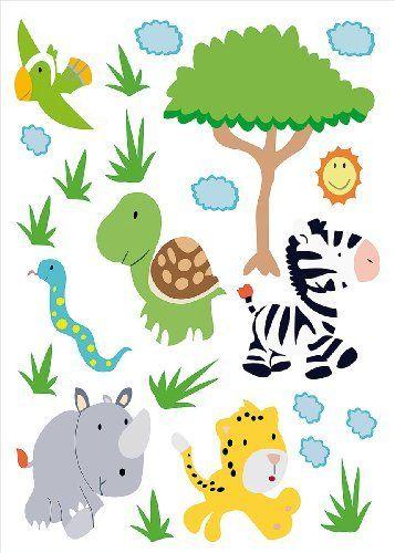 Cute infactory Tierisch lustige Wandtattoos f rs Kinderzimmer S dafrika von infactory http