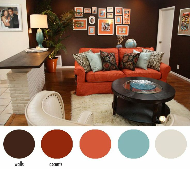 Burnt Orange Wall....accent Colors