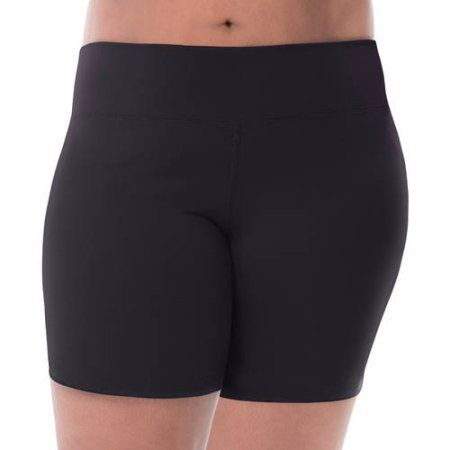 Fit for Meby Fruit of the Loom Women's Plus-Size Bike Short, Size: 5XL, Black