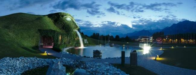 'Twenty minutes from Innsbruck, in the town of Wattens, a water-spouting giant with sparkling eyes guards a glittering subterranean world.'