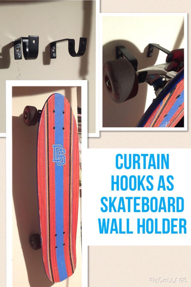Curtain hooks used to hang a skateboard curtain hooks
