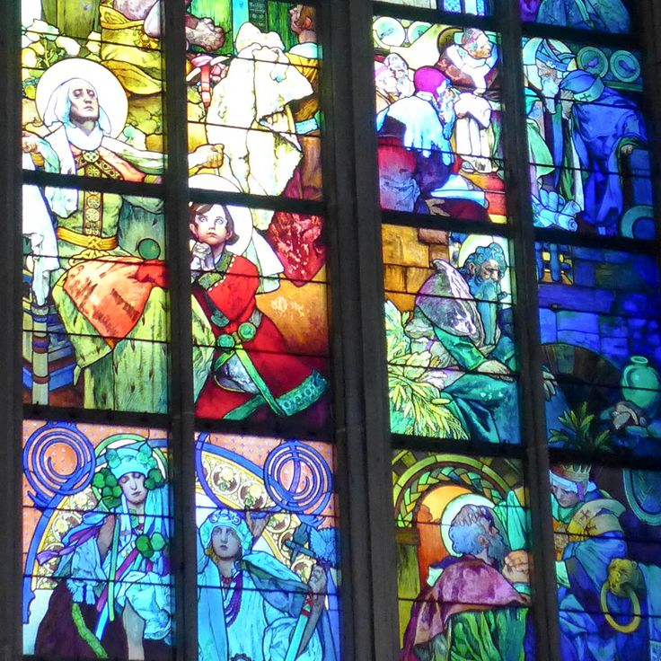 #prague #prag #praha #winter #snow #cold #church #jugendstil #artnouveau #alfonsmucha #window