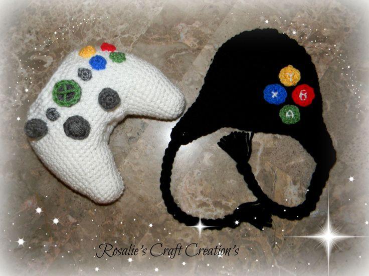 Crochet Xbox Controller : Crochet XBox Controller & Hat