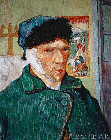 Vincent van Gogh - Selbstbildnis mit verbundenem Ohr