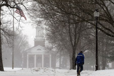 Winter comes to Wabash College