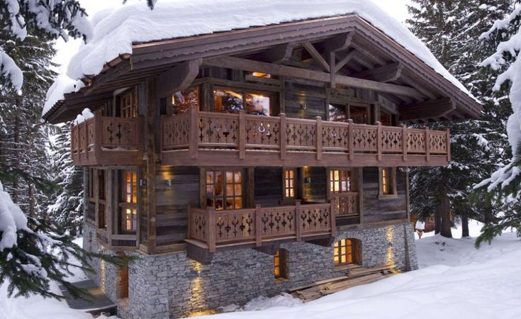 Swiss style house plans alpine log cabin cottages for Swiss chalet plans