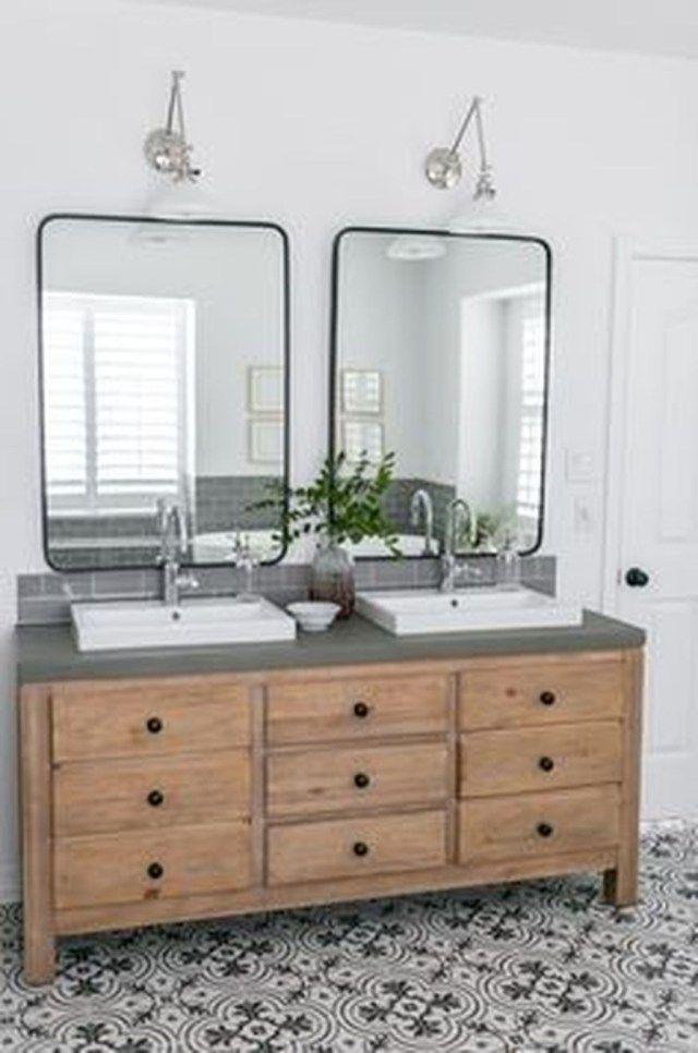 35 Brilliant Bathroom Vanity Mirror Design Ideas Modern Farmhouse Bathroom Home Bathrooms Remodel