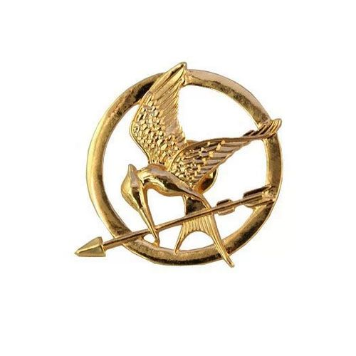 Movie The Hunger Games Inspired Antique Brooch Badge Pin Cosplay Pendant