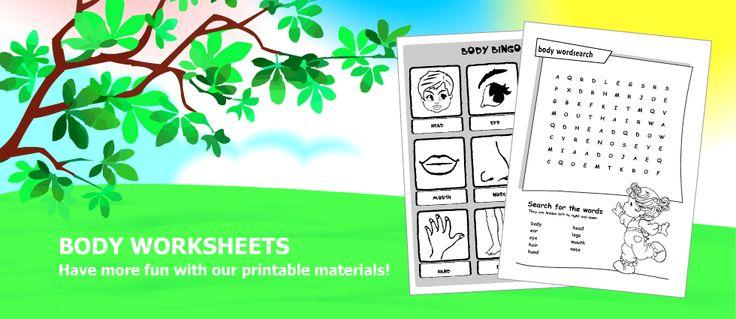 ESL ~ body parts printable worksheets