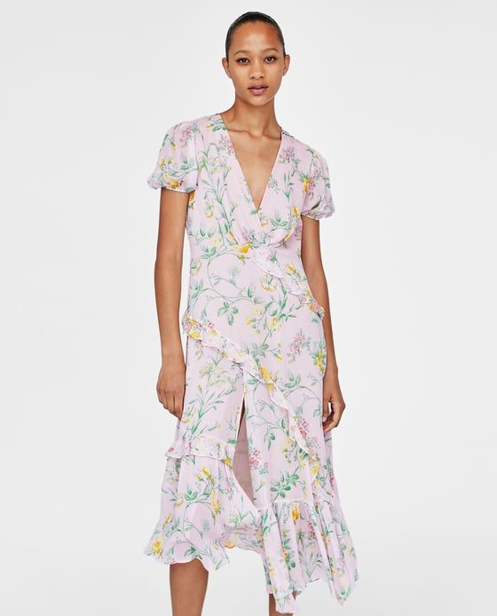 2cf07e37 Image 1 of RUFFLED FLORAL PRINT DRESS from Zara | SS18 | Dresses ...