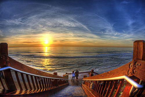 Sunset Stairs, Encinitas, California