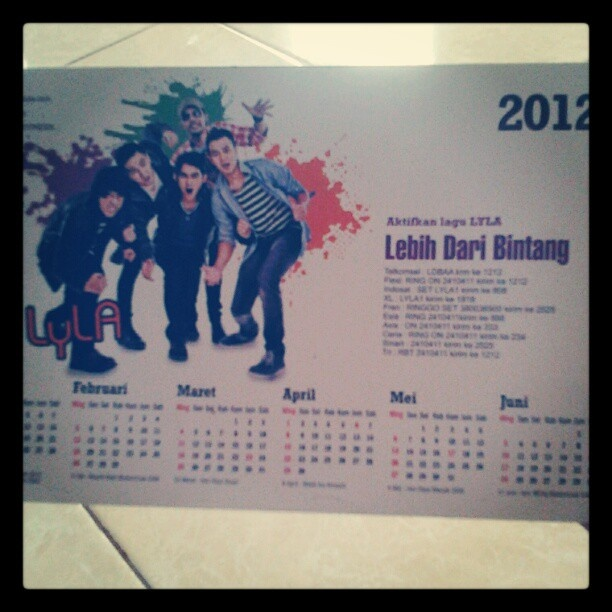 #Kalender2012 #LYLAINDONESIA - #webstagram