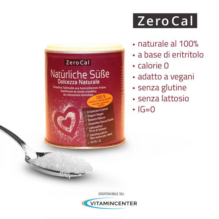 ZeroCal è un cristallino sostituto dello zucchero e per grado di dolcificazione, gusto e le possibilità di lavorazione, ha le stesse caratteristiche dello zucchero raffinato tradizionale. Disponibile anche nella formulazione con Stevia! Dolcifica in modo naturale e prova Zerocal! http://www.vitamincenter.it/dolcezza-naturale-200-g.html