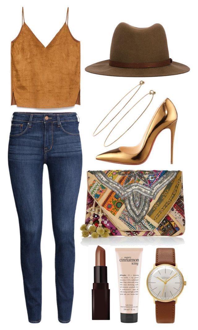 180. I want this clutch by briax on Polyvore featuring polyvore, fashion, style, H&M, Christian Louboutin, FUNKIS, Junghans, Dean Harris, rag & bone, Laura Mercier and philosophy