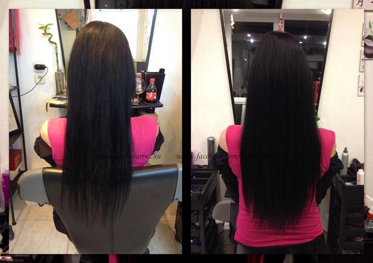 Hajdúsítás 60 cm-es európai hajból, mikrogyűrűs felépítéssel, festéssel. www.hajbevarras.hu  www.fb.com/hajbevarras #hajhosszabbitas #hajdusitas #hairextension