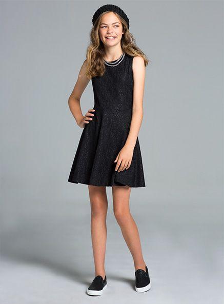 Pumpkin Patch - dresses - lily rose lace dress - W5UA80005 - black ink - 3xs-8yr to m-16yr