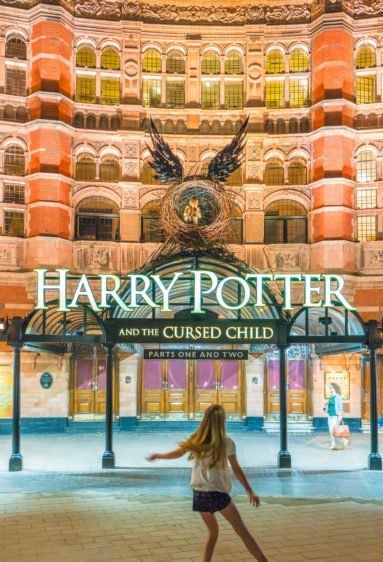 """""""Harry Potter and the Cursed Child"""" is a must see when in London with kids. Tips on planning the ultimate Harry Potter trip in London!! #travel #london"""