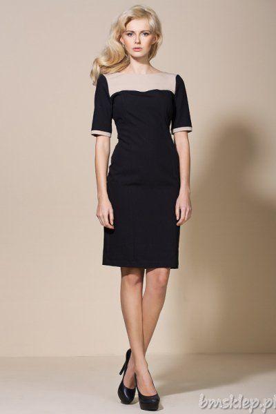 Prosta, czarująca sukienka dwukolorowa, którą wykorzystasz na wiele okazji. Ich ilość zależy od twojej fantazji i dodatków jakie do niej dobierzesz. Sukienka z tyłu zapinana na kryty #zamek. Skład: 60% #poliester, 35% #wiskoza, 5% elastan... #Sukienki - http://bmsklep.pl/sukienki