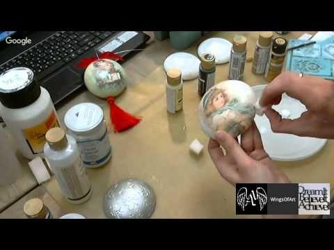 Имитация серебра Декупаж: вебинар и мастер-класс Ольги Корецкой Новогодняя мастерская Wings of Art - YouTube