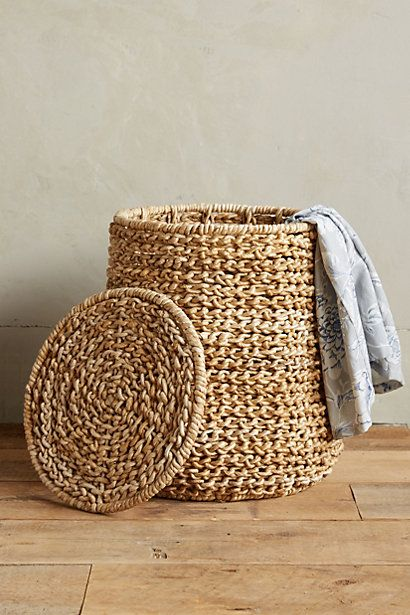 Abaca Laundry Basket #anthropologie