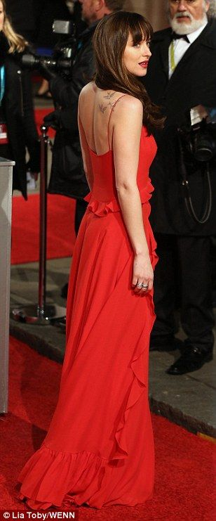 Star turn: The 26-year-old wowed in her gown, walking the red carpet - she was nominated for the prestigious Rising Star BAFTA
