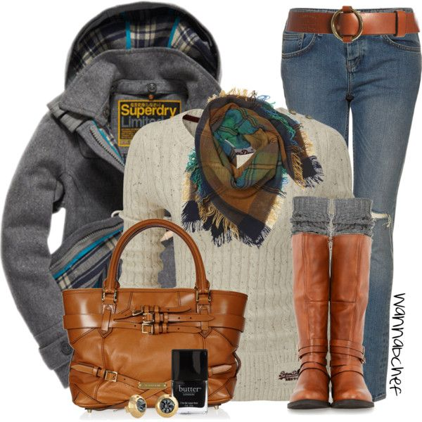 Superdry Sweater and Coat, created by wannabchef on Polyvore