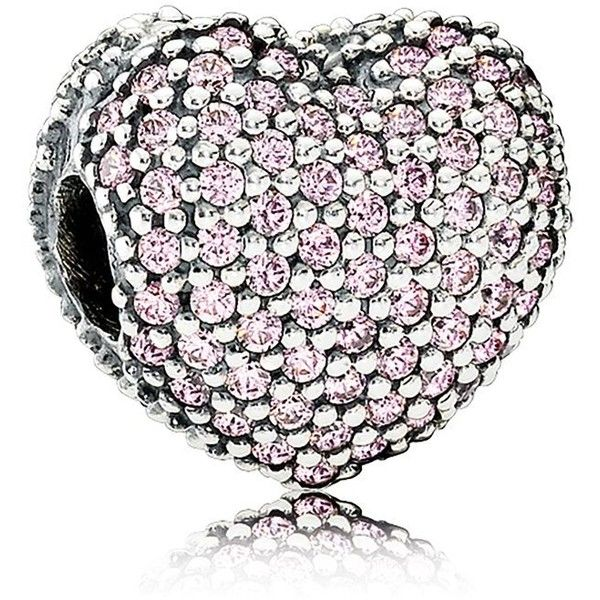 Pandora Clip - Sterling Silver & Cubic Zirconia Pave Heart, Moments... ($75) ❤ liked on Polyvore featuring jewelry, cz jewelry, cubic zirconia jewelry, heart shaped jewelry, sterling silver cz jewelry and cz jewellery