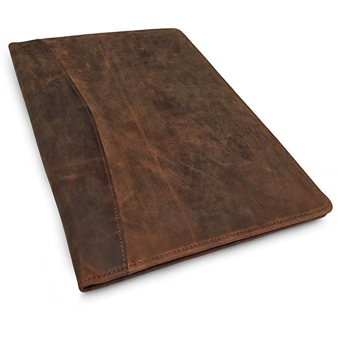 Leather Portfolio Professional Resume Padfolio Document Folder Organizer Folio For Letter Sized A4 Writin Leather Portfolio Padfolio Portfolio Professional