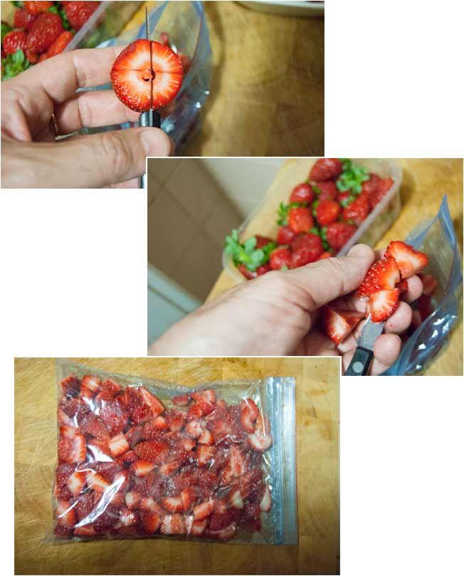 Cómo congelar fresas