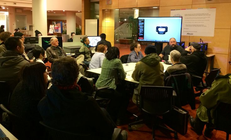 Innovator In Residence Derek Quenneville hosted his first drop-in session at the Digital Innovation Hub at Toronto Reference Library in March 2014. Guests got to ask him questions about 3D design, scanning and printing.