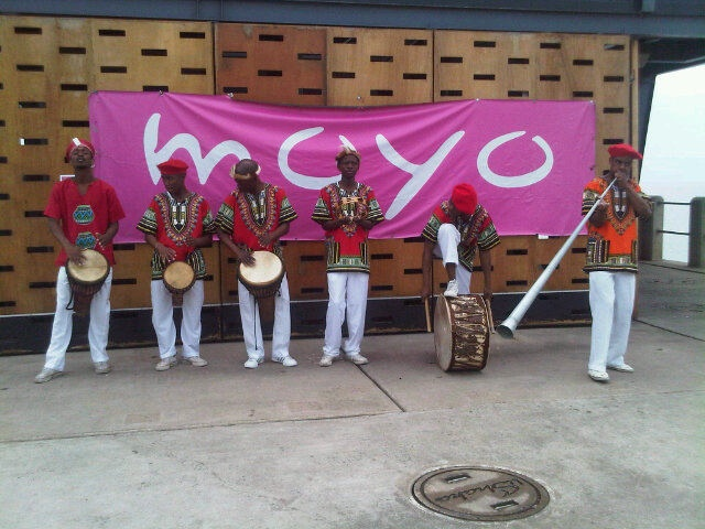 the 'welcome committee' at moyo uShaka Pier