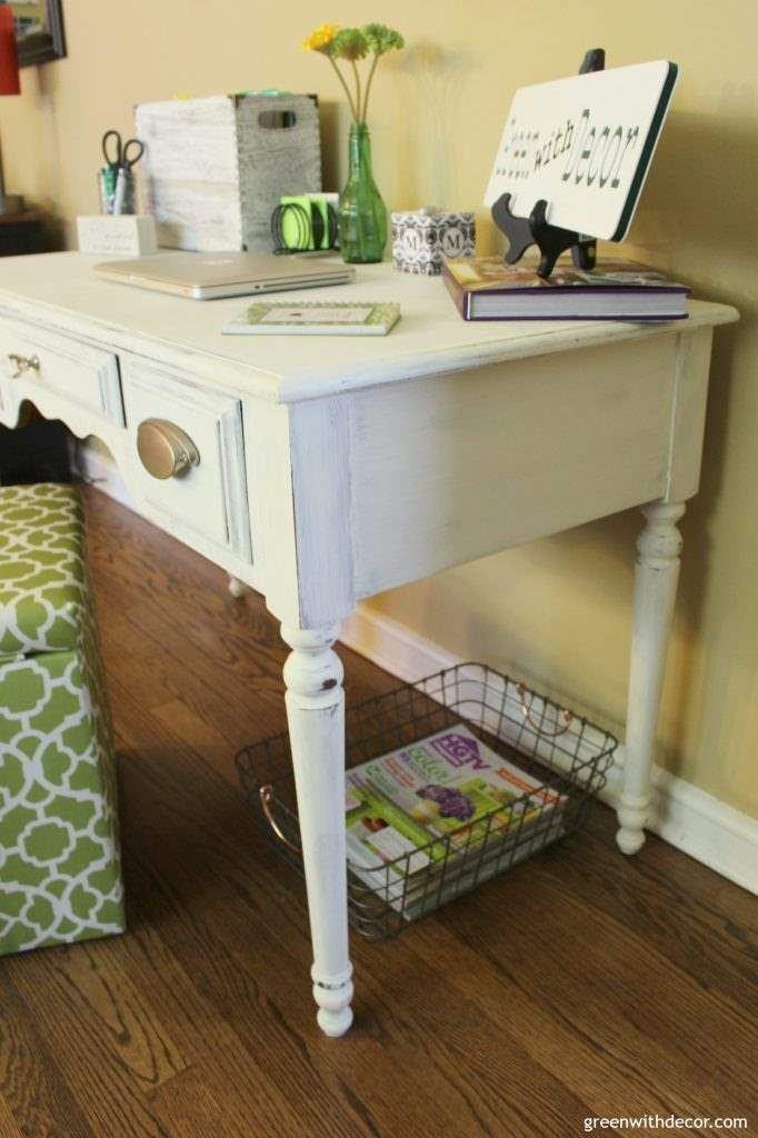 this is a great tutorial for painting an old desk with clay paint rh pinterest es