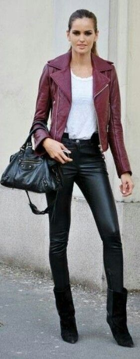 Leather Pants cute #toppants #duongdayslook #LeatherPants #Leather #Pants #newfashion    www.2dayslook.com