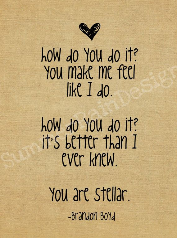 Incubus Brandon Boyd song lyric print  stellar by SummerRainDesign, $9.00