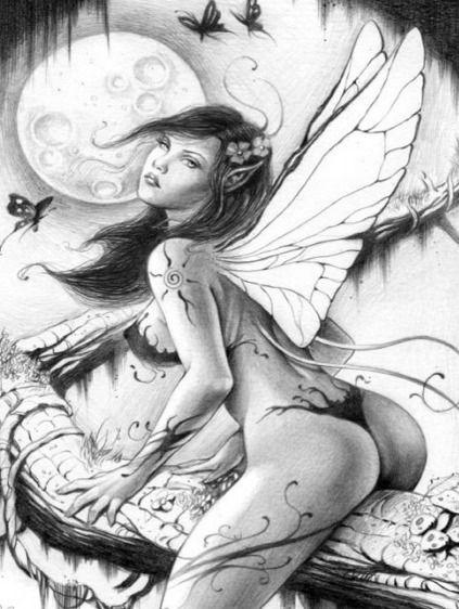 Sexy Fairy Tattoo Design