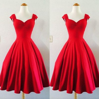Red Prom Dresses,Prom Dress,Prom Dresses 2016,Short Prom Dresses,1950s Retro Prom Dresses,Vintage Girl Party Dresses ,Simple Prom Gown,PD160324