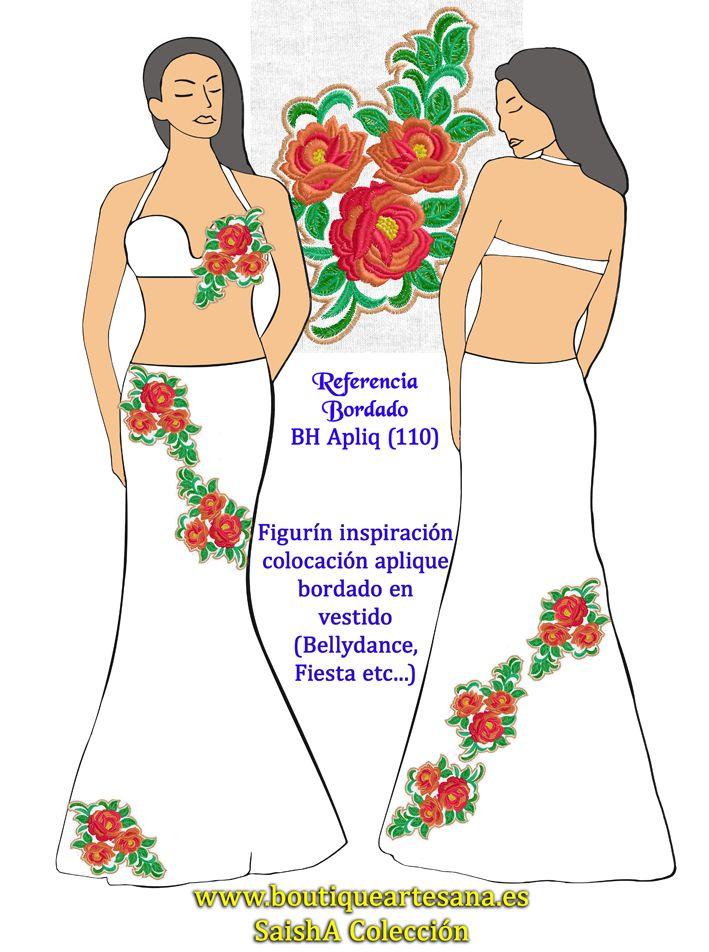 Apliques para decorar y redecorar tus vestidos bellydance / fiesta. Personalizados en colores que quieras de un amplísimo catálogo.