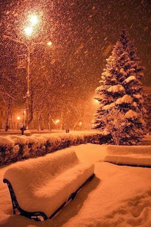 Snowy Night, Kyoto, Japan